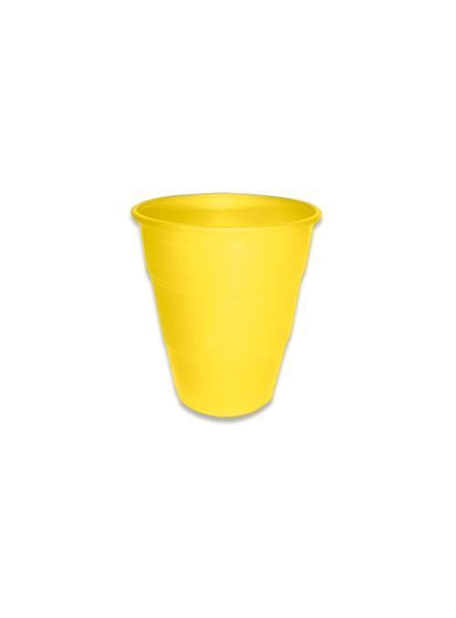 Copos Descartáveis de Luxo 210ml Amarelo – 10 unidades