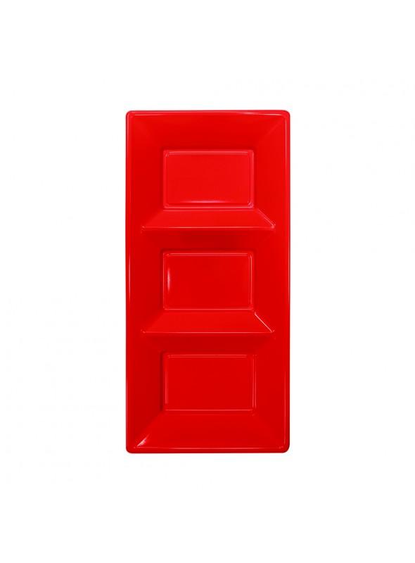 Petisqueira Descartável de Luxo Vermelha – 3 unidades