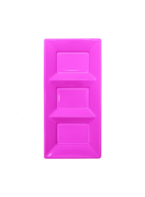 Petisqueira Descartável de Luxo Rosa – 3 unidades
