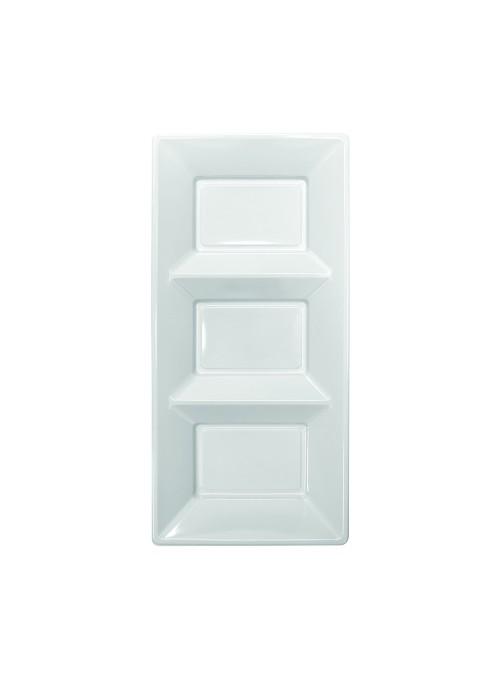 Petisqueira Descartável de Luxo Branca – 3 unidades