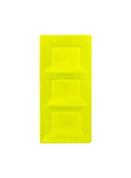 Petisqueira Descartável de Luxo Amarela – 3 unidades
