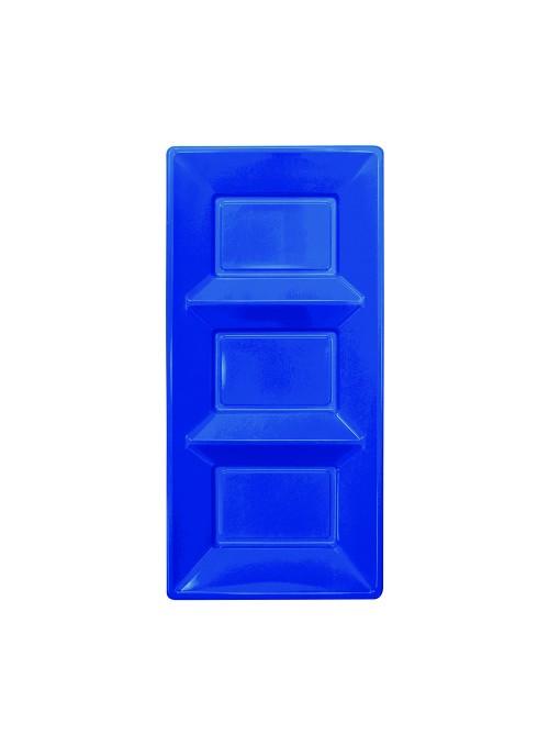 Petisqueira Descartável de Luxo Azul Escuro – 3 unidades