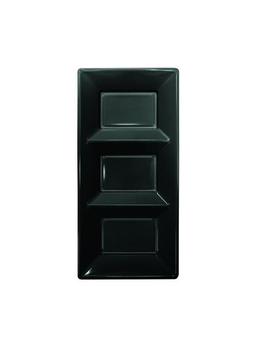 Petisqueira Descartável de Luxo Preta – 3 unidades