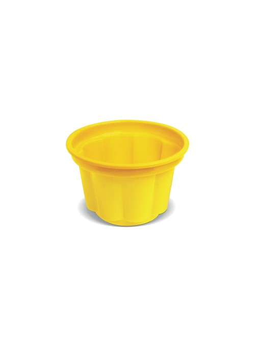 Potes Sobremesa Descartáveis 120ml Amarelo – 10 unidades