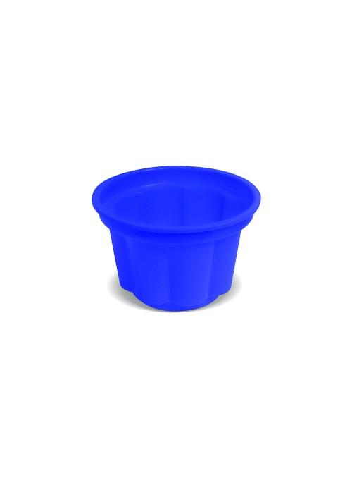 Potes Sobremesa Descartáveis 120ml Azul Escuro – 10 unidades