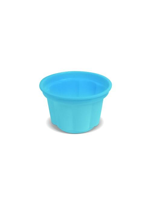 Potes Sobremesa Descartáveis 120ml Azul Claro – 10 unidades