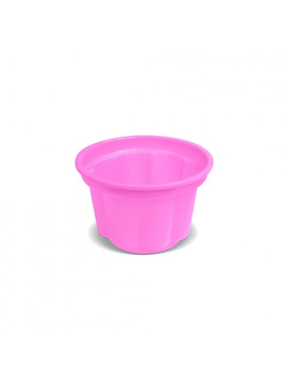 Potes Sobremesa Descartáveis 120ml Rosa Claro – 10 unidades