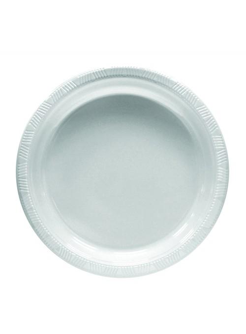 Pratos Refeição Descartáveis de Luxo Branco – 10 unidades