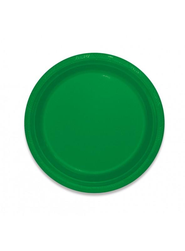 Pratos Refeição Descartáveis de Luxo Verde – 10 unidades