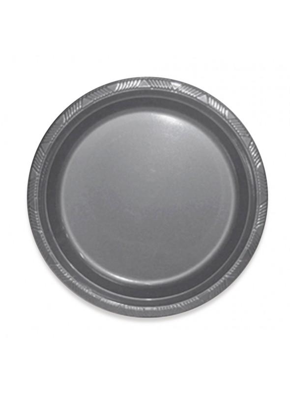 Pratos Refeição 2 Descartáveis de Luxo Prata – 10 unidades