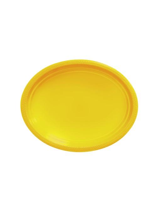 Bandejas Descartáveis de Luxo Amarela – 5 unidades