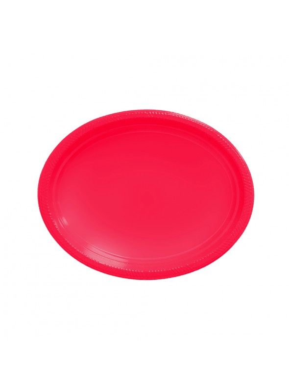 Bandejas Descartáveis de Luxo Vermelha – 5 unidades