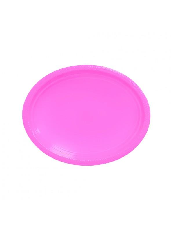 Bandejas Descartáveis de Luxo Rosa Claro – 5 unidades
