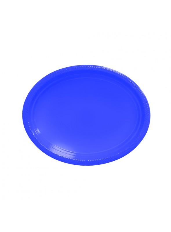 Bandejas Descartáveis de Luxo Azul Escuro – 5 unidades