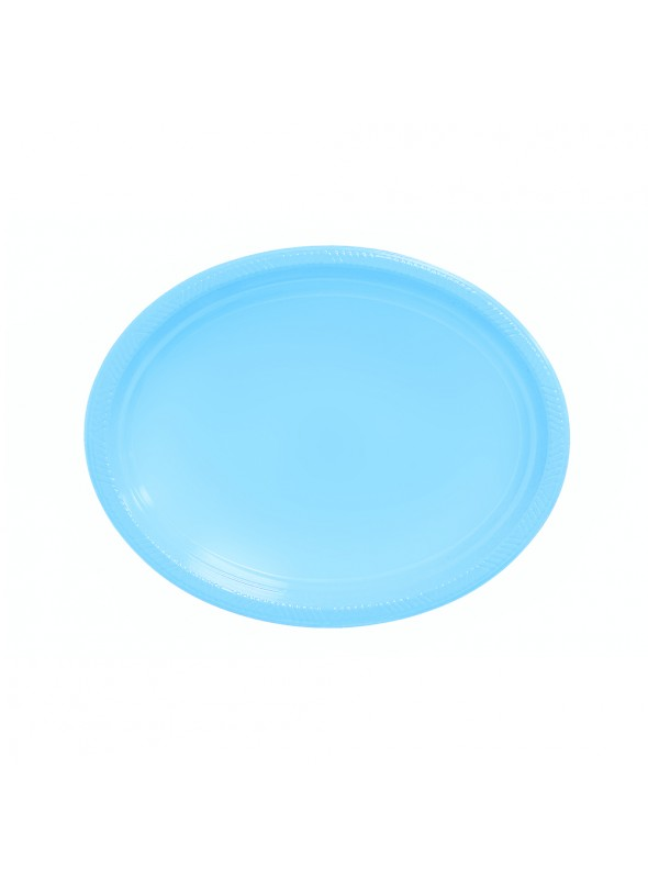Bandejas Descartáveis de Luxo Azul Claro – 5 unidades