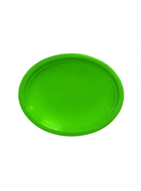 Bandejas Descartáveis de Luxo Verde – 5 unidades