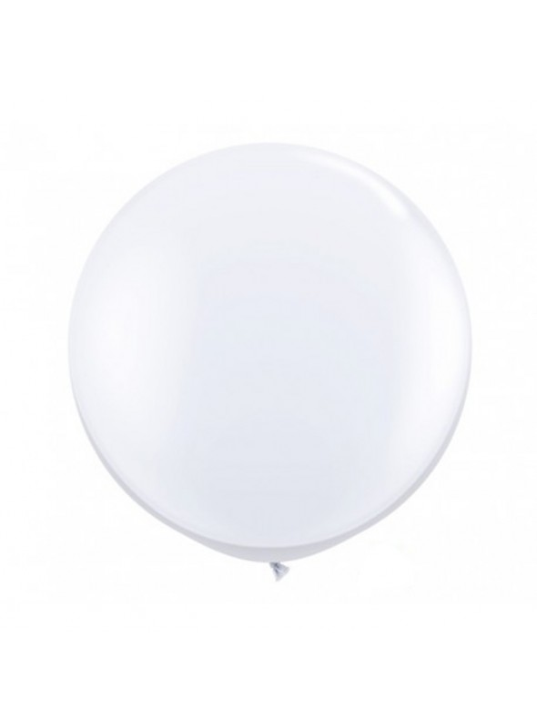 Balão de Látex Gigante Branco 40 polegadas – 1 unidade