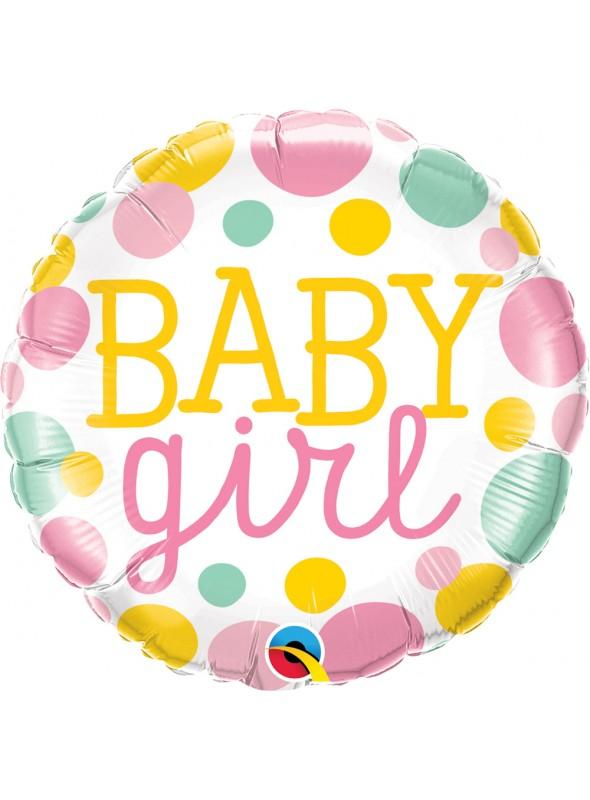 Balão Metalizado Qualatex Maternidade Baby Girl – 1 unidade