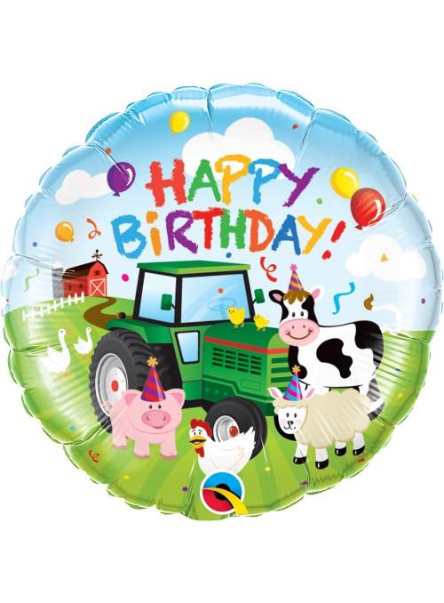Balão Metalizado Qualatex Aniversário Fazenda – 1 unidade