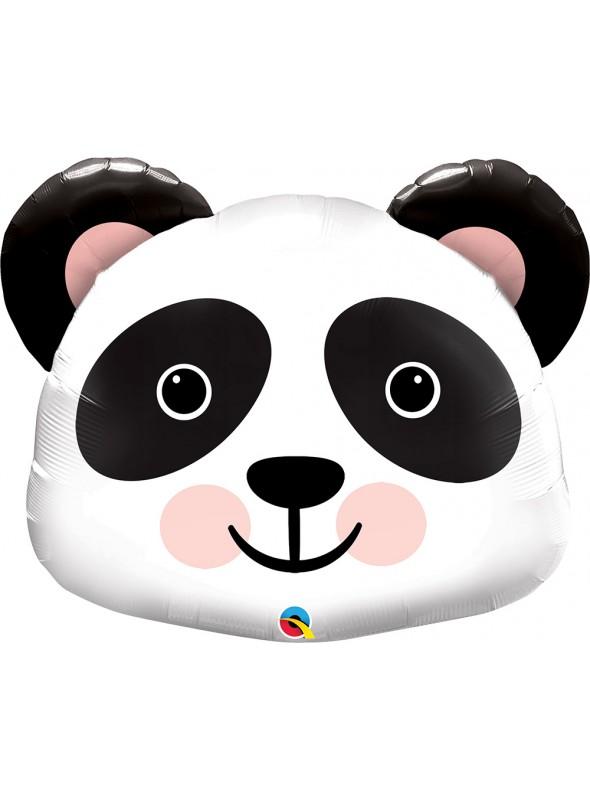Balão Metalizado Animal Panda Precioso – 1 unidade
