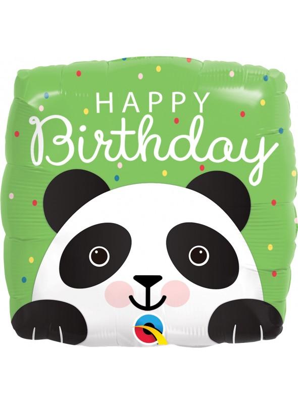 Balão Metalizado Qualatex Aniversário Panda – 1 unidade