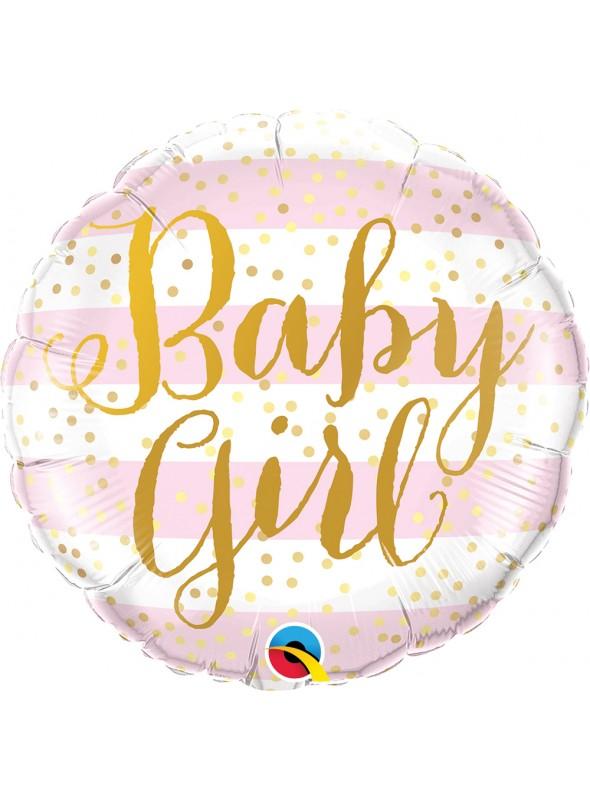 Balão Metalizado Qualatex Baby Girl Maternidade – 1 unidade