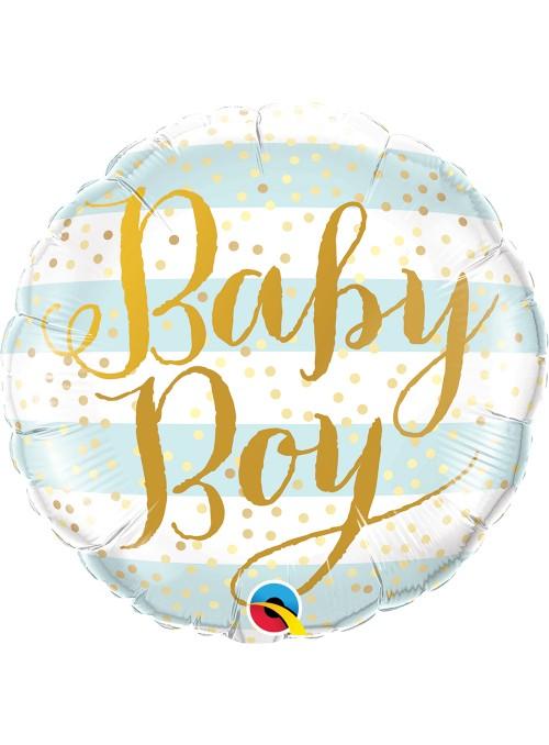 Balão Metalizado Qualatex Baby Boy Maternidade – 1 unidade