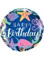 Balão Metalizado Aniversário Fundo do Mar Qualatex – 1 unidade