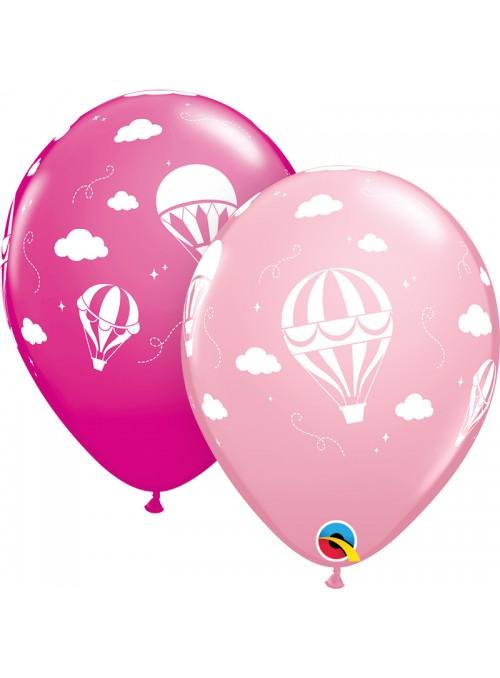 Balões de Látex Balão de Ar Quente Rosa Qualatex – 10 unidades