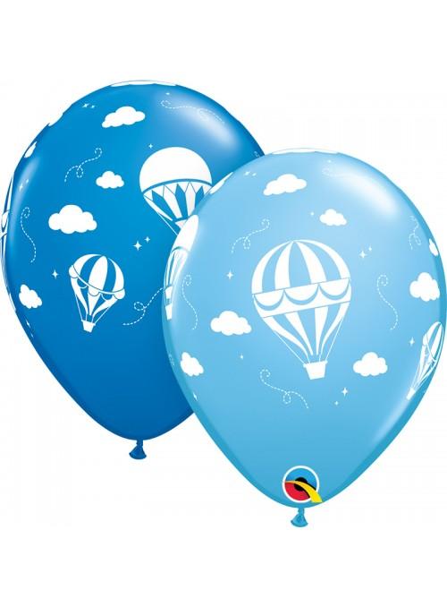 Balões de Látex Balão de Ar Quente Azul Qualatex – 10 unidades