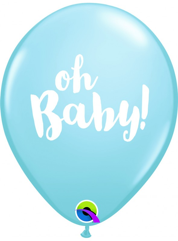 Balões de Látex Oh Baby Menino Qualatex – 10 unidades