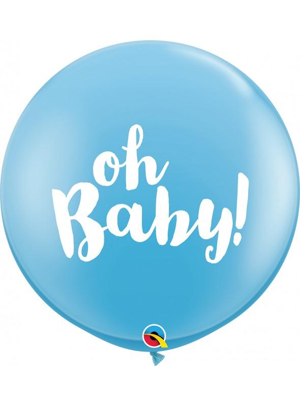 Balão de Látex Gigante Baby Menino Qualatex – 1 unidade