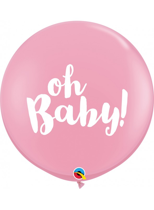 Balão de Látex Gigante Baby Menina Qualatex – 1 unidade