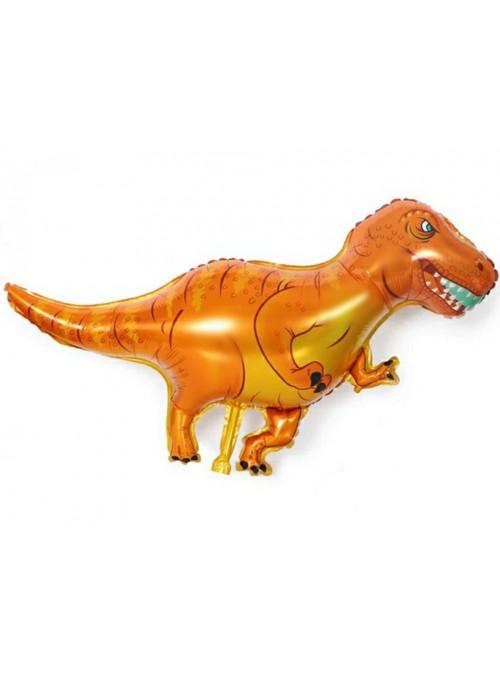 Balão Metalizado Dinossauro Laranja – 1 unidade