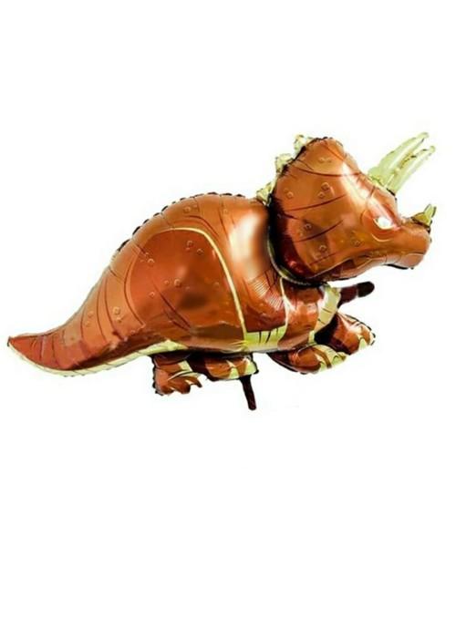 Balão Metalizado Dinossauro Triceratops – 1 unidade