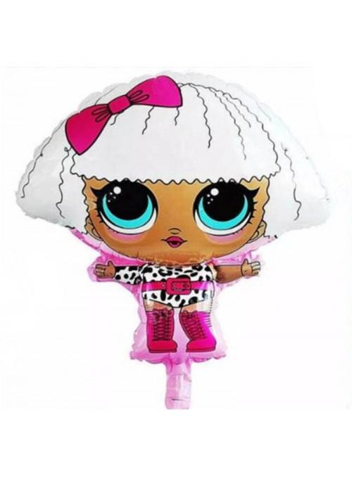 Balão Metalizado Boneca Lol Barbie – 1 unidade