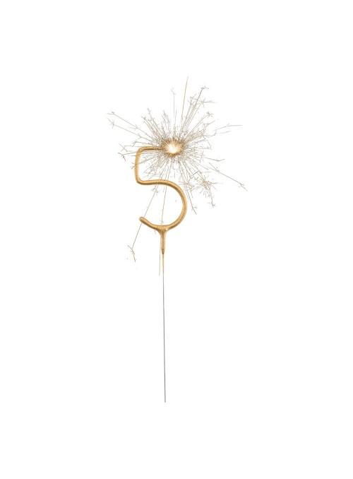 Vela de Aniversário Faíscas Número 5 – 1 unidade
