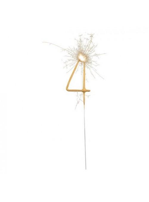 Vela de Aniversário Faíscas Número 4 – 1 unidade