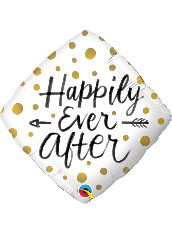 Balão Metalizado Felizes para Sempre Qualatex – 1 unidade