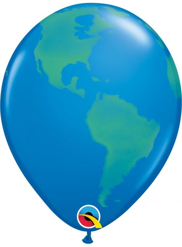 Balões de Látex Planeta Terra Qualatex – 10 unidades