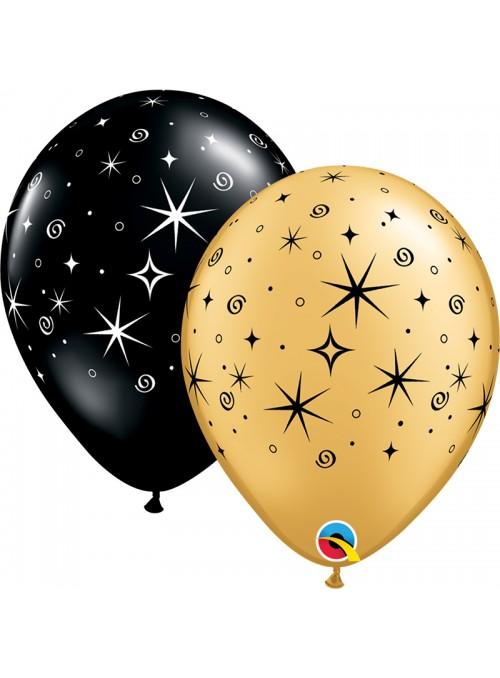 Balões de Látex Faíscas e Espirais Qualatex – 10 unidades