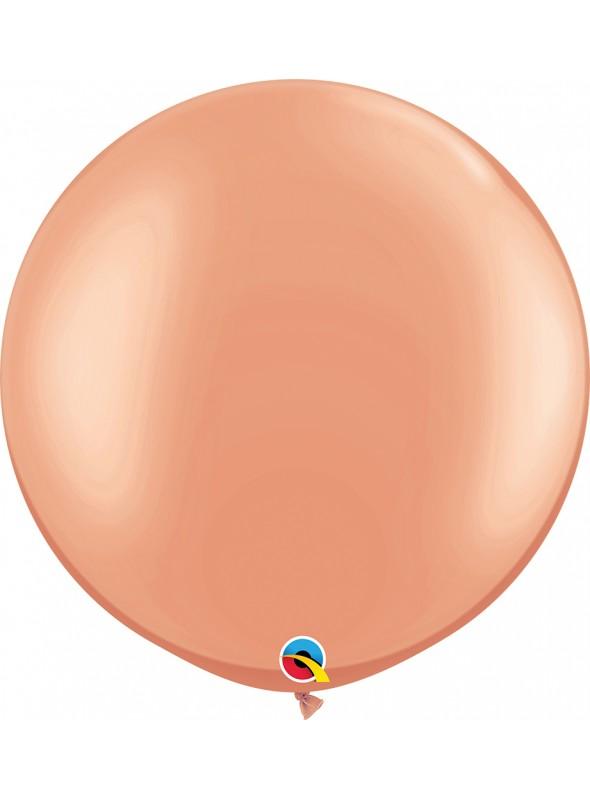 Balão de Látex Gigante Rose Gold 30 Polegadas Qualatex – 1 unidade