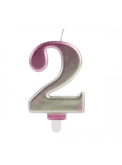 Vela de Aniversário Wave Número 2 – 1 unidade