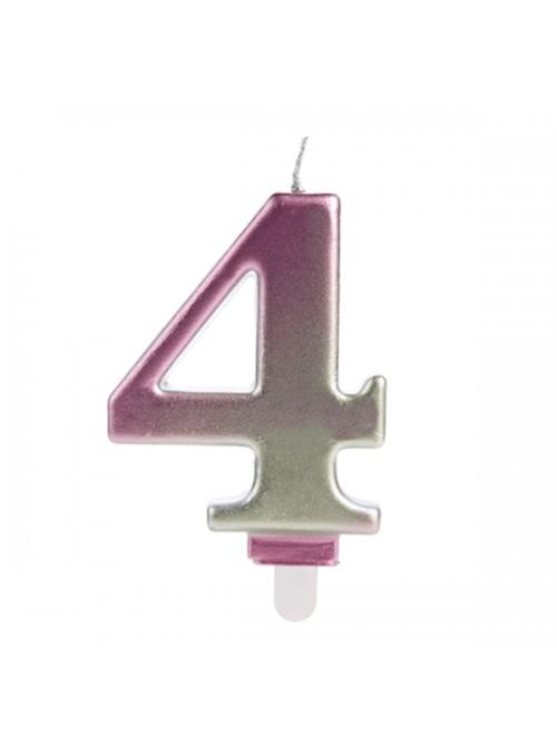 Vela de Aniversário Wave Número 4 – 1 unidade