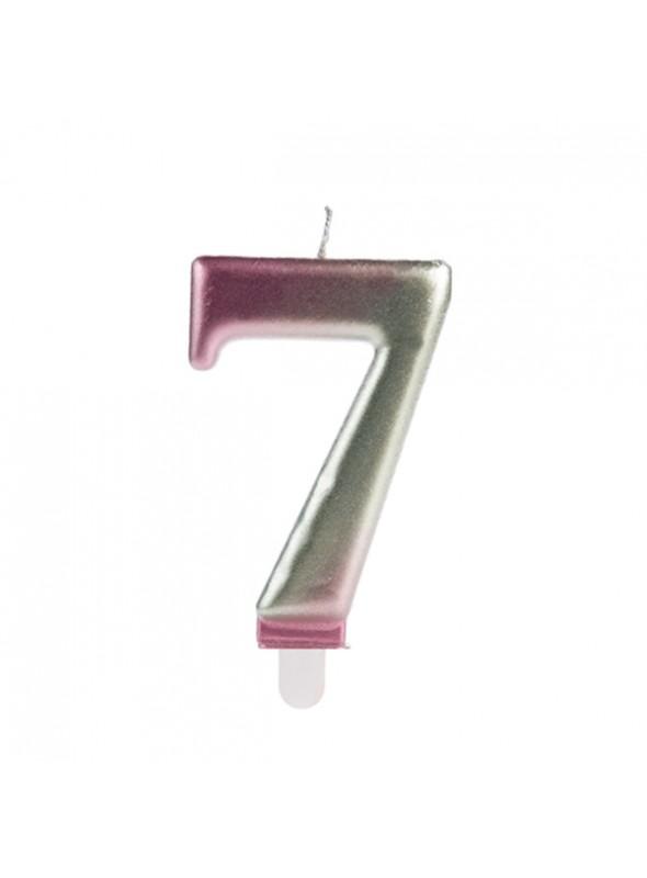 Vela de Aniversário Wave Número 7 – 1 unidade