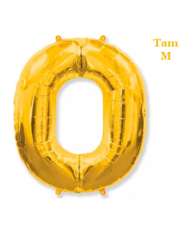 Balões Metalizados Dourado Números Tamanho M