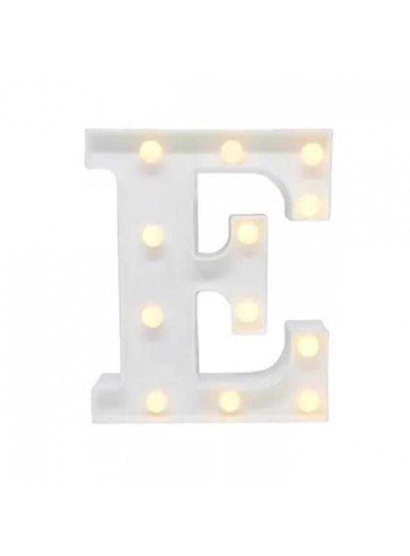 Luminária Led Letra E – 1 unidade