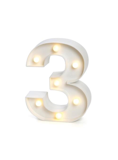 Luminária Led Número 3 – 1 unidade