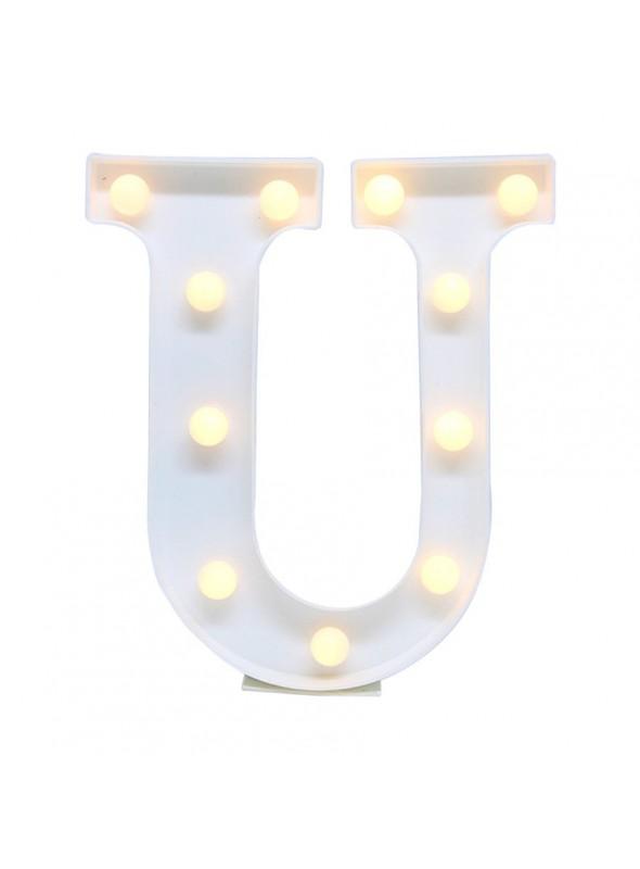 Luminária Led Letra U – 1 unidade