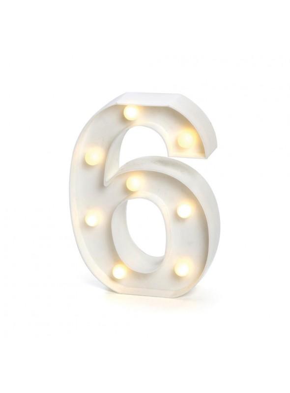 Luminária Led Número 6 – 1 unidade